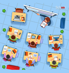 Top view school concept in vector
