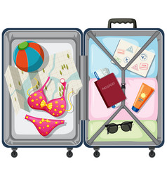 travel element in the luggage vector image