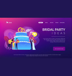 Wedding party concept landing page vector