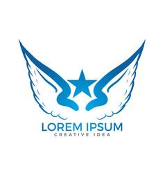 Wings logo design vector