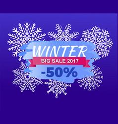 winter big sale 2017 -50 off vector image