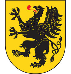 coat of arms of pomeranian voivodeship in vector image