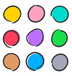 Creative hand drawn web buttons vector