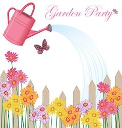 garden party shower vector image vector image