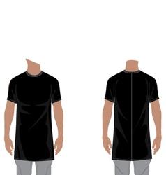 MENS LONGLINE T-SHIRT 2D FLAT vector image vector image