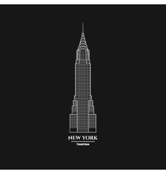 New York Skyscraper Icon 1 vector image vector image
