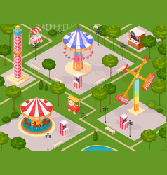 Summer amusement park for children vector