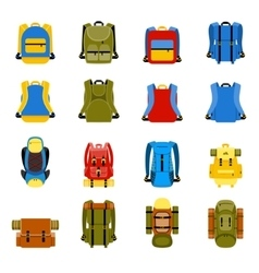 Travel backpack camping rucksack and school bag vector image