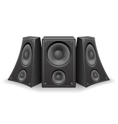 twisted music speaker isolated 3d realistic design vector image