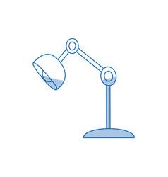 Desk lamp bulb light office object vector