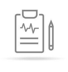 diagnostic medical research icon in trendy thin vector image vector image