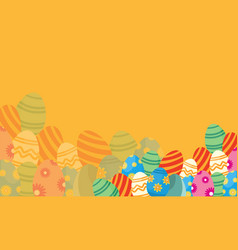 flat of easter theme backgrounds vector image vector image
