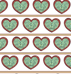 Heart Endless Seamless Pattern vector image vector image