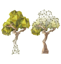 tree in low poly style vector image vector image