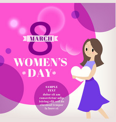 womens day celebration cartoon vector image vector image