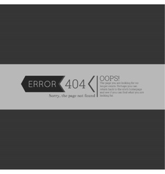 Oops 404 error Sorry page not found vector image