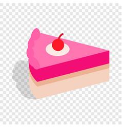 piece of cake isometric icon vector image