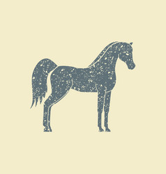 silhouette of a horse vector image