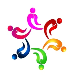 Teamwork party people logo vector image vector image