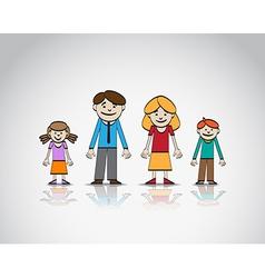 Family sketch vector image