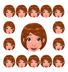 Girl expressions with lip sync vector