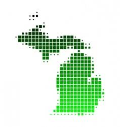 map of Michigan vector image vector image