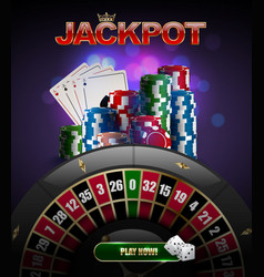 stacks of red blue green casino chips top vector image
