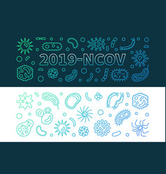 2019-ncov concept linear colorful banners vector image