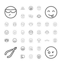 37 facial icons vector