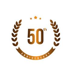50 th anniversary template design vector