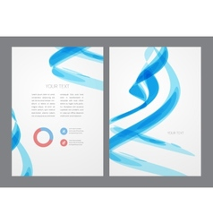 Abstract modern bright blue flyer vector image