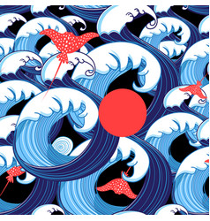 abstract sea pattern from beautiful waves vector image vector image