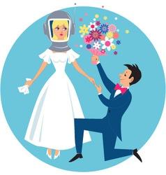 Allergic bride vector