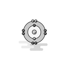 atoms web icon flat line filled gray icon vector image