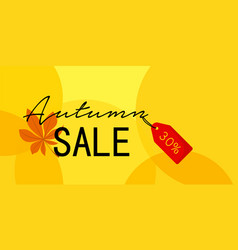 autumn first sale banner horizontal flat style vector image