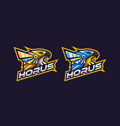 Awesome horus logo with two option color vector
