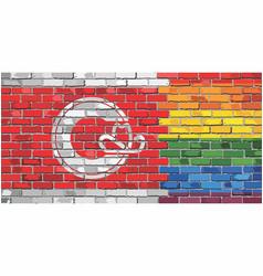 Brick wall calgary and gay flags vector