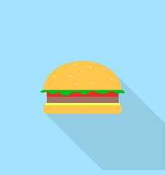 burger icon set of great flat icons design vector image