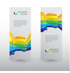 Business web vertical banners vector