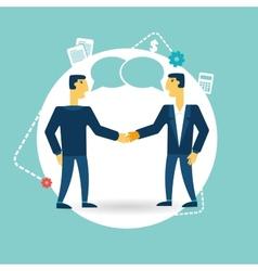 businessmen shaking hands vector image