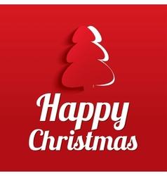 Christmas Greeting Card Christmas tree Eps10 vector image