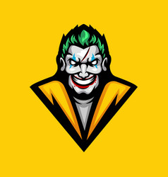 Clown esport mascot logo design vector