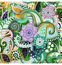 Colorful Paisley seamless pattern Original vector