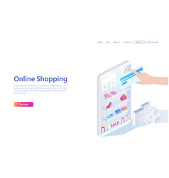 concept of sales shopping people shopping in vector image