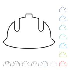 Construction helmet stroke icon vector