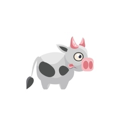 Cow Simplified Cute vector image