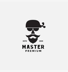 Design hair mustache logo sunglasses beard vector