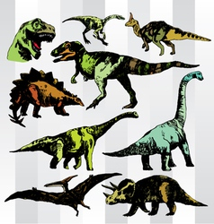 dino colorful vector image