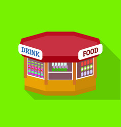 Drink food kiosk icon flat style vector