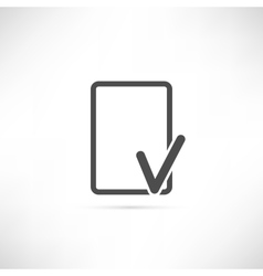 Empty Check Icon vector image